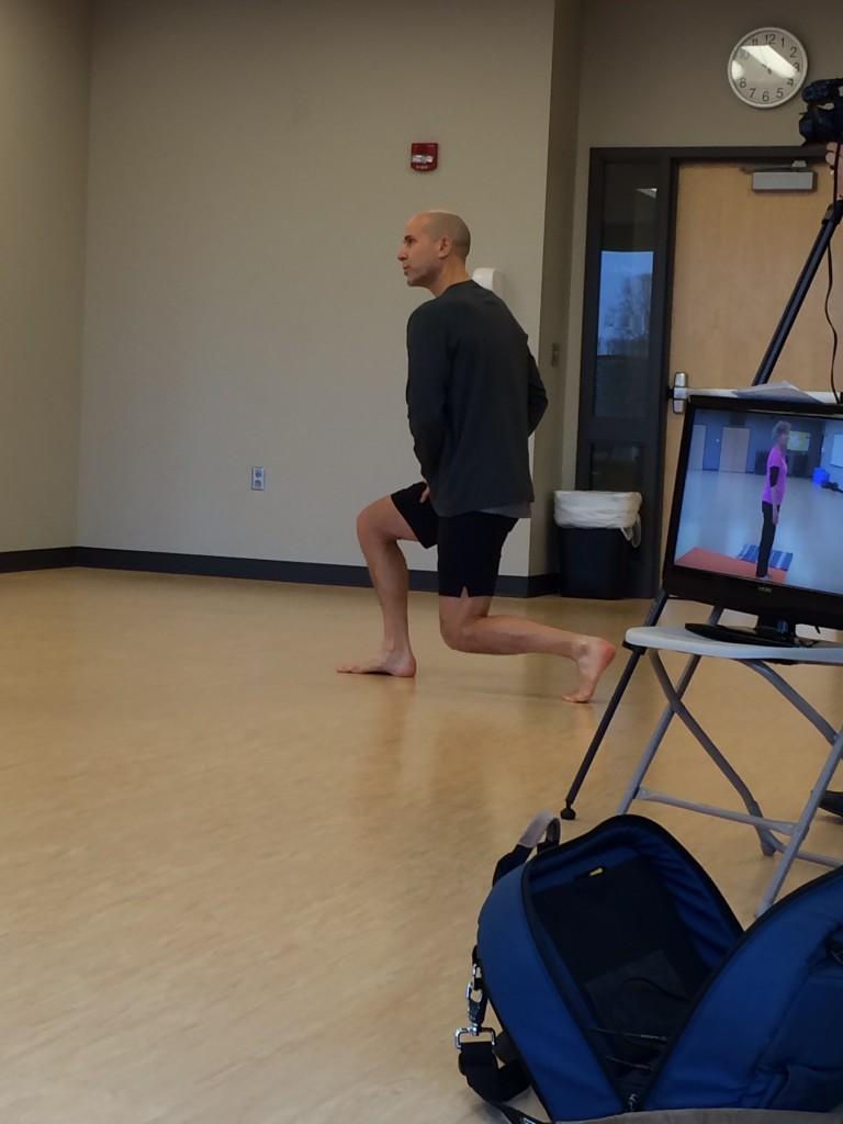 Walking student through poses