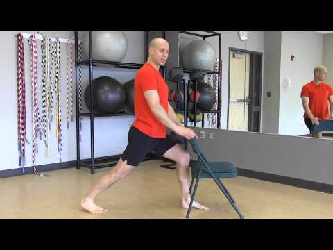 "#48 ""Yoga Minute"" Standing Lunge with Chair"