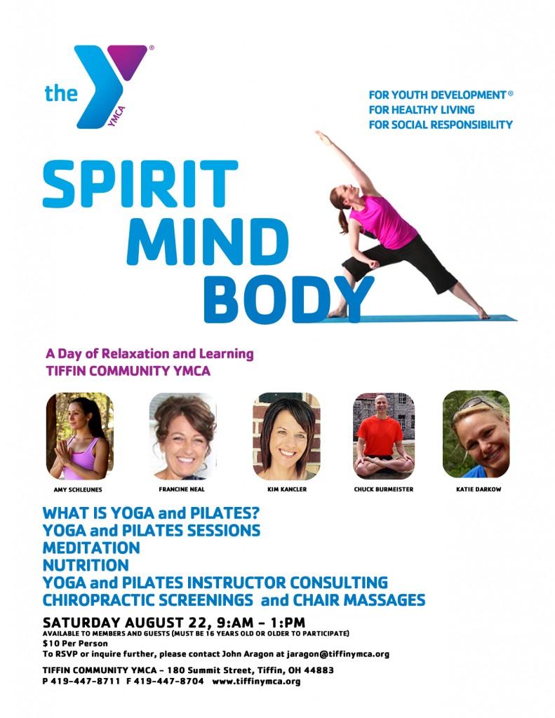Spirit/Mind/Body Event, Tiffin Ohio YMCA