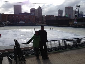 James and I with the Columbus, Ohio skyline in the background