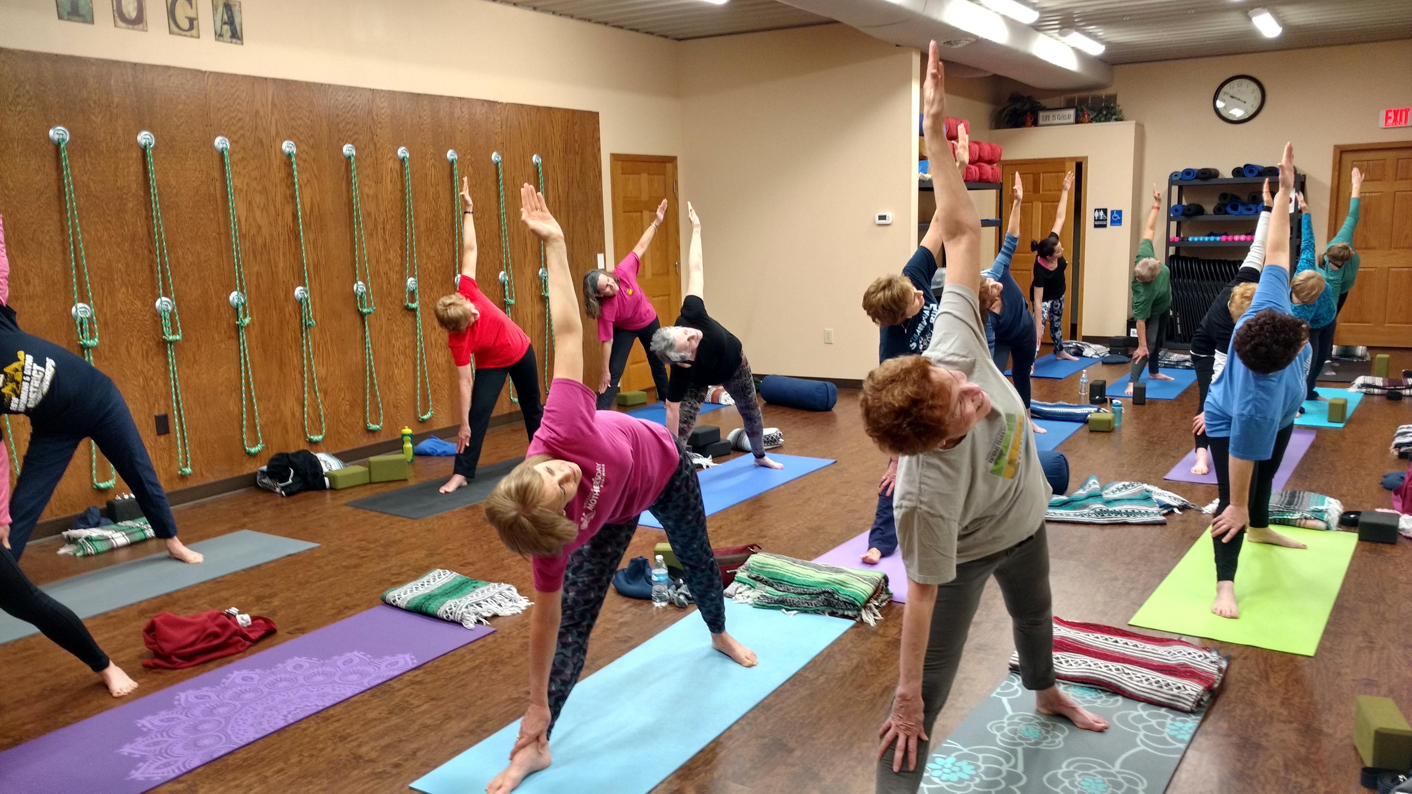 YogaChuck.com - Learning yoga in class.